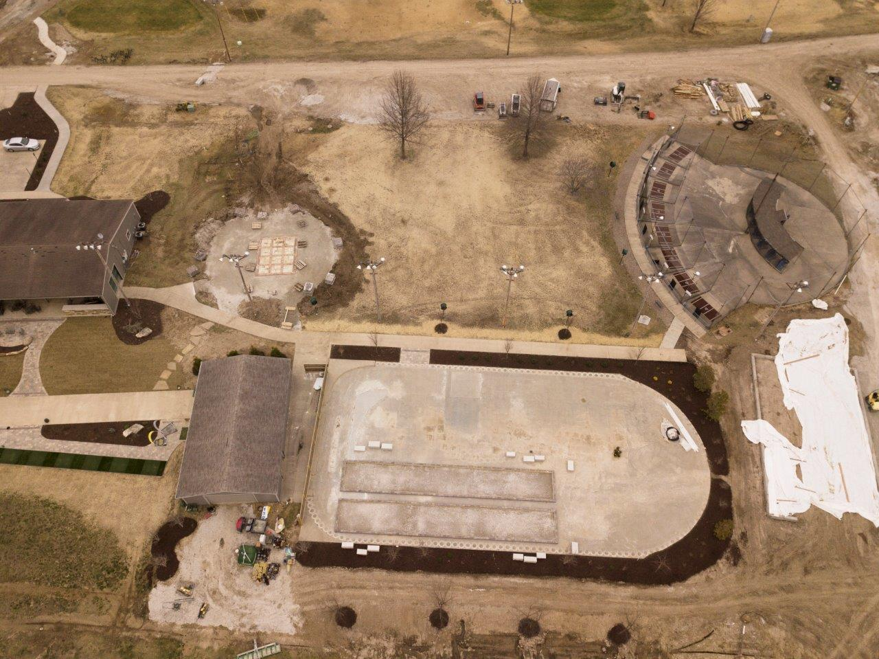 Bocce Ball Courts and Game Area
